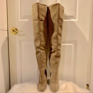 Aldo thigh high suede boots
